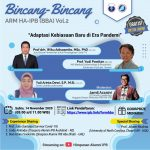 ARM HA IPB selenggarakan Bincang-Bincang ARM HA-IPB 14 November 2020